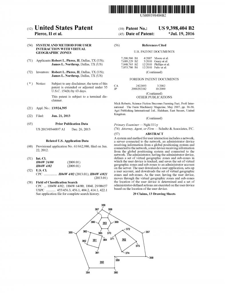 zonal retail phone app patent